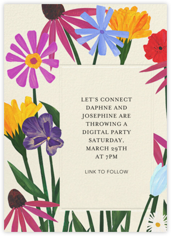 Bright Blooms - Anthropologie - Virtual Parties
