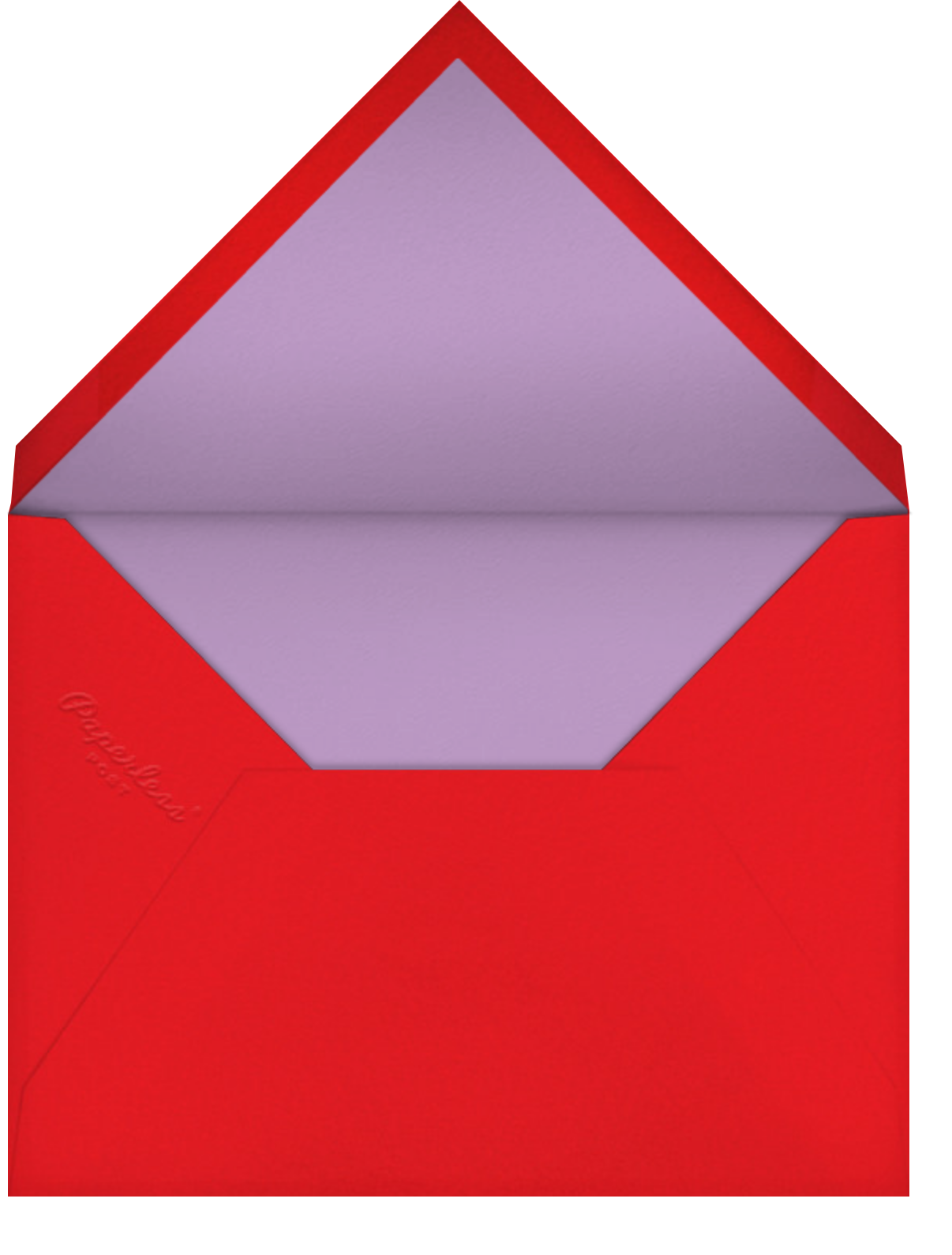 Red Petals - Lilac - Anthropologie - Thank you - envelope back