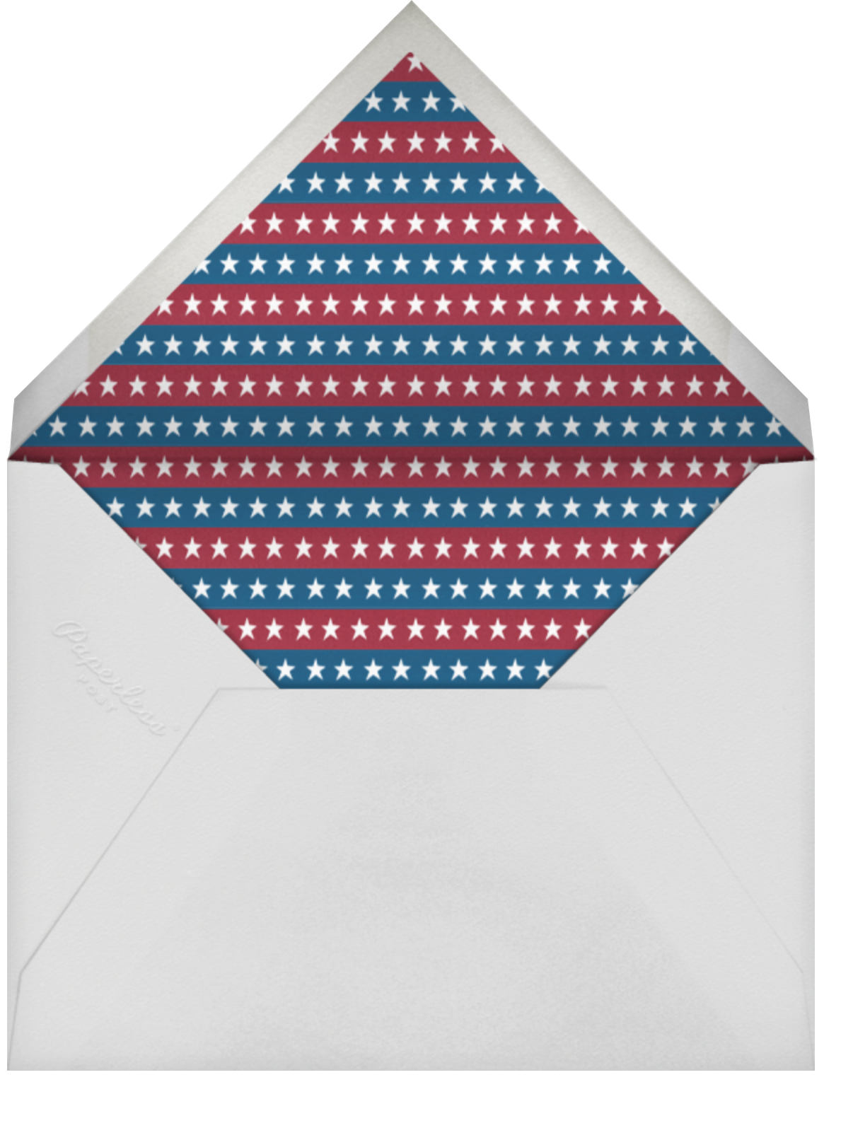 Porch Flag - Paperless Post - 4th of July - envelope back