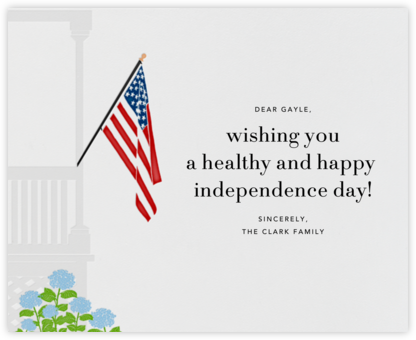 Porch Flag - Paperless Post - 4th of July cards