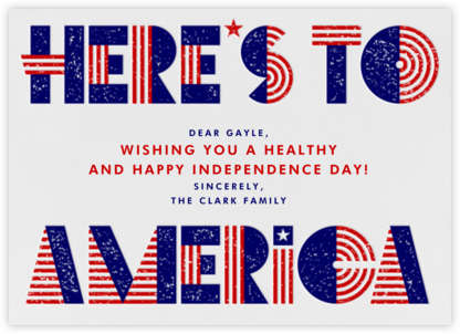 Cheers, America - Paperless Post - 4th of July cards