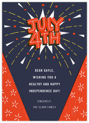 Patriotic Pyrotechnics - Paperless Post - 4th of July cards
