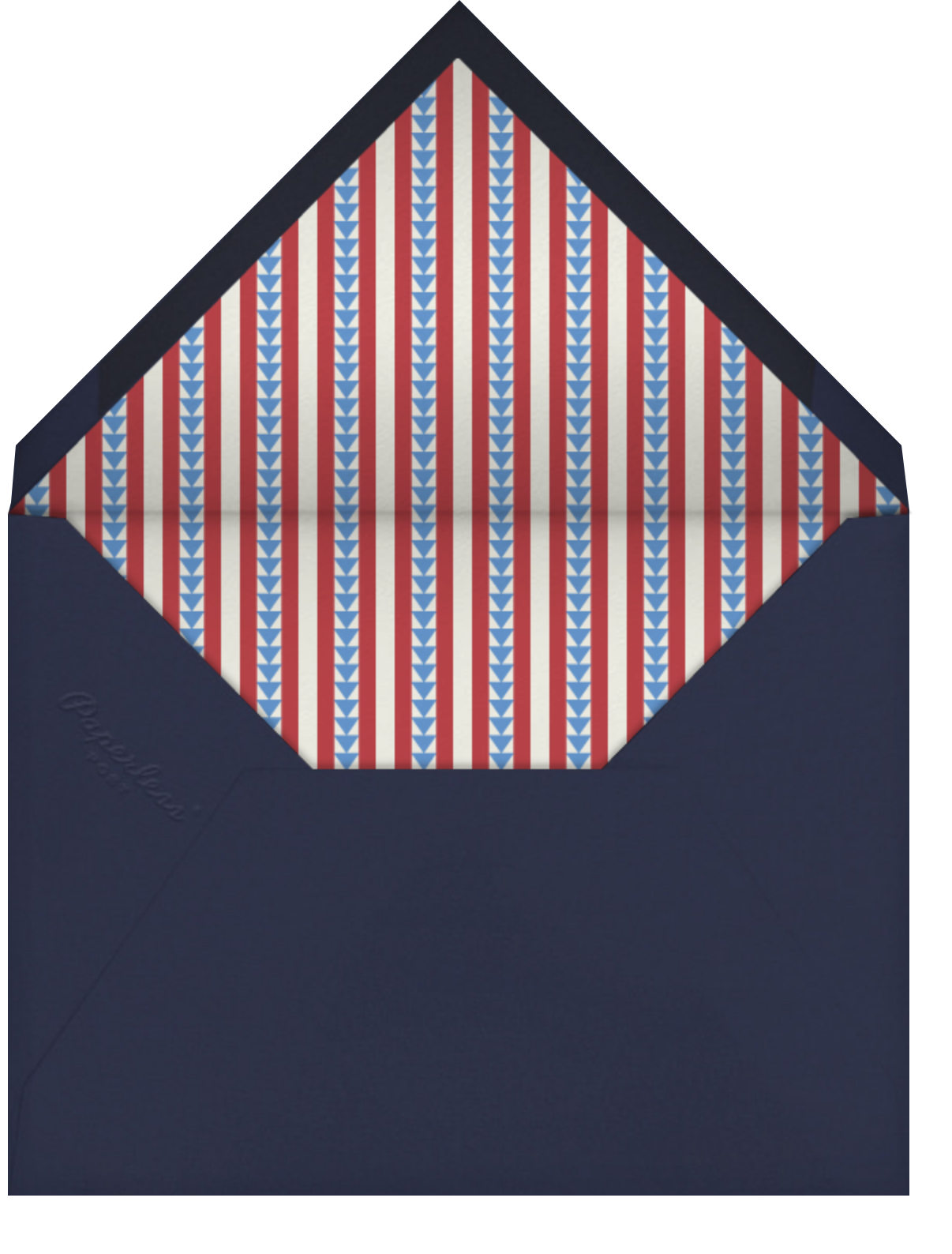 Patriotic Quilt - Paperless Post - 4th of July - envelope back