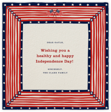 Patriotic Quilt - Paperless Post - 4th of July cards