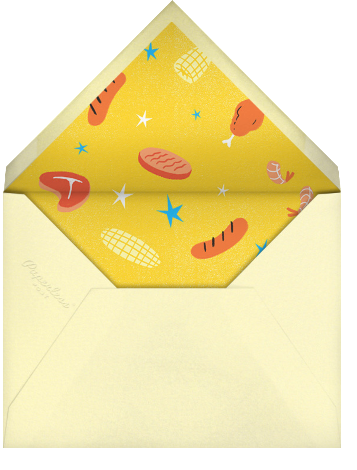 Brat Stars - Paperless Post - Barbecue - envelope back