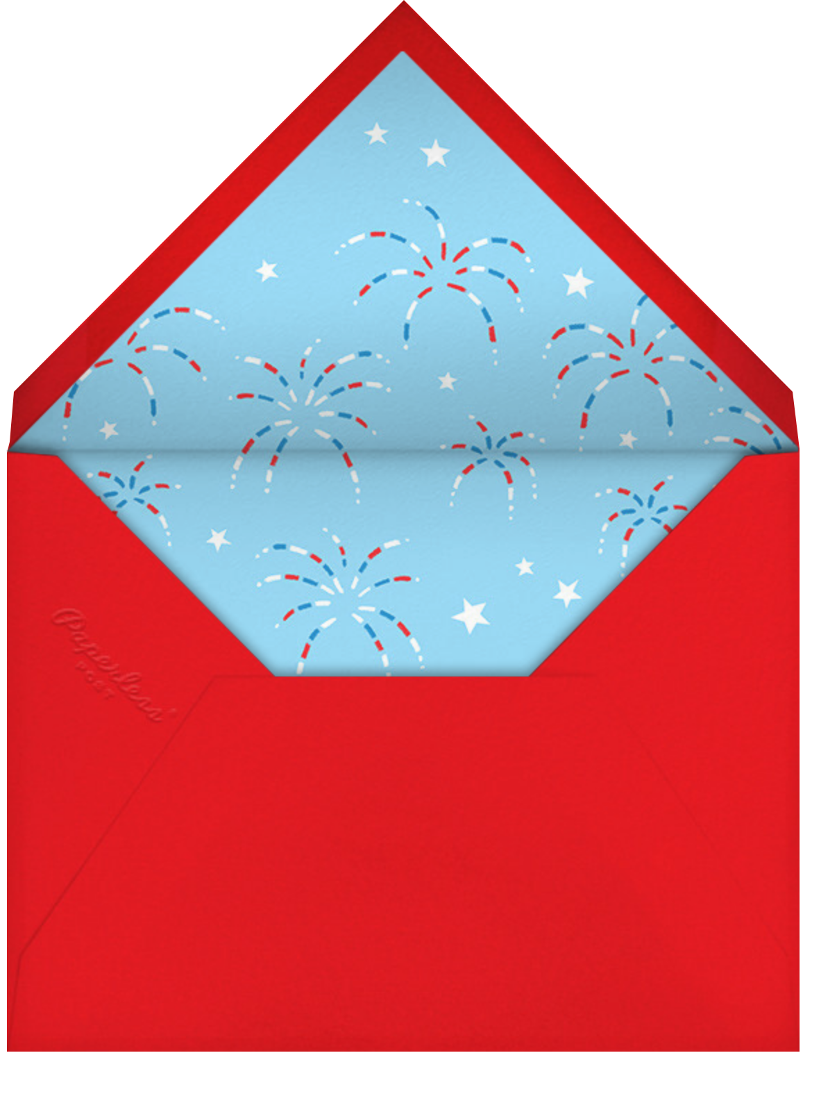Funky Flag - Paperless Post - 4th of July - envelope back