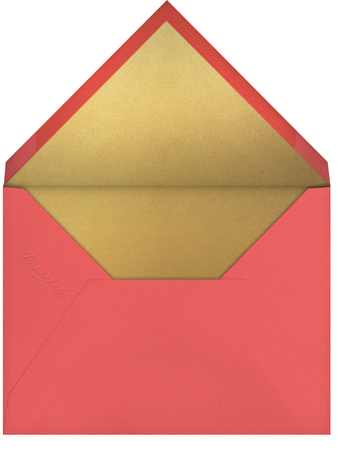 Full Bleed Heart - Blue - Paperless Post - Father's Day - envelope back