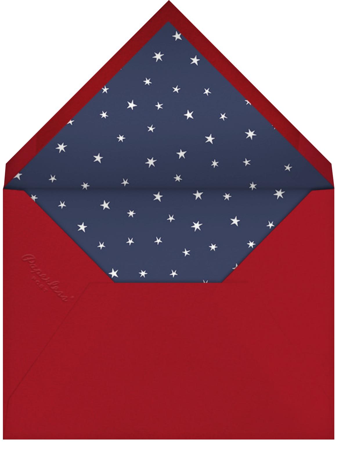 Juneteenth Flag - Paperless Post - Juneteenth - envelope back