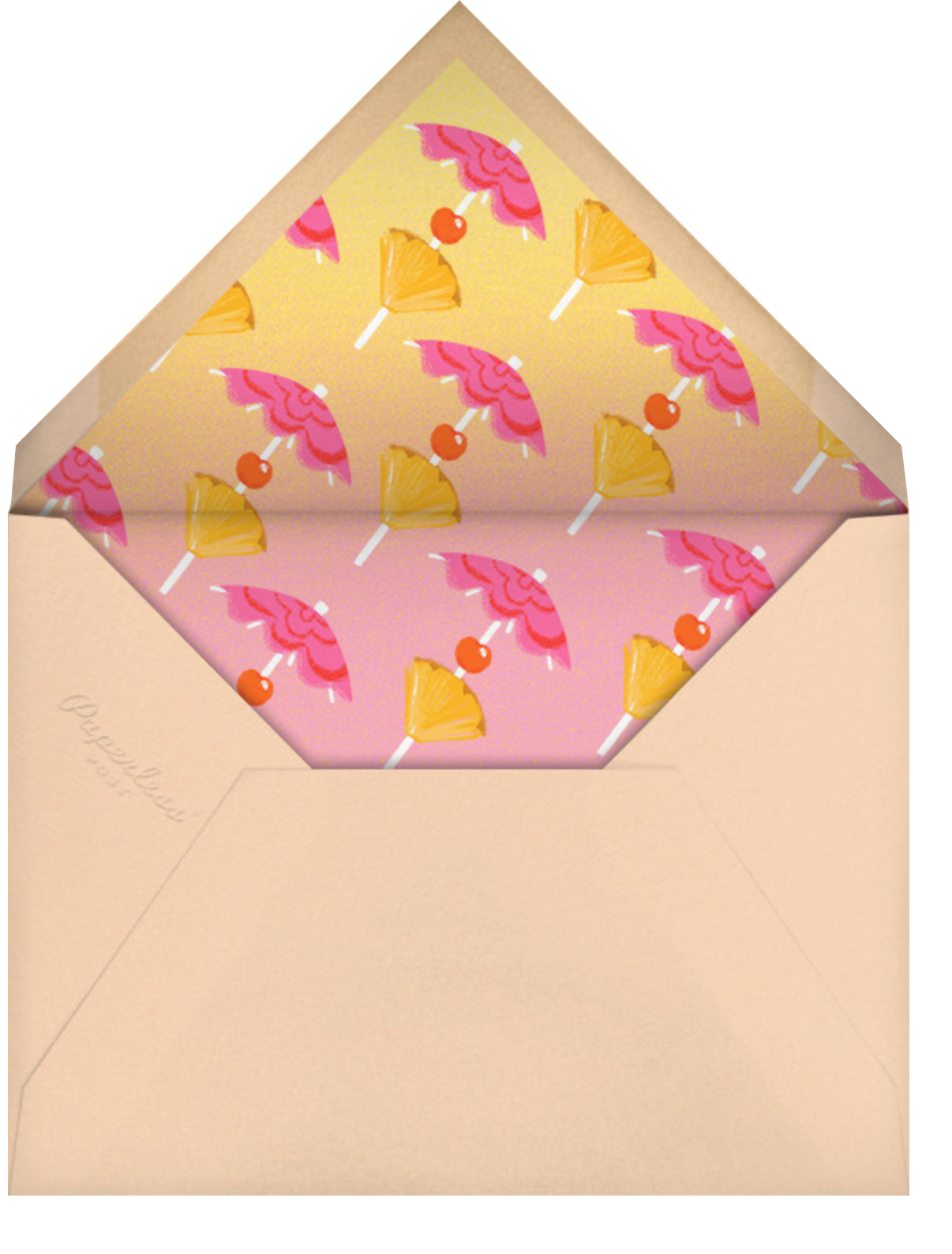 Rose Colored Glasses - Paperless Post - Pool party - envelope back