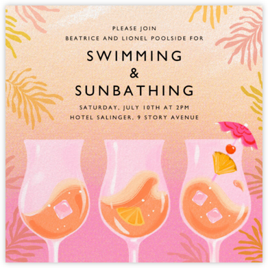 Rose Colored Glasses - Paperless Post - Pool Party Invitations