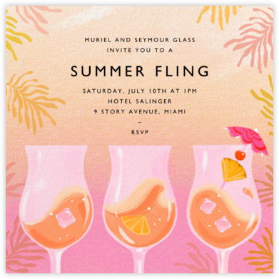 Rose Colored Glasses - Paperless Post - Summer Party Invitations