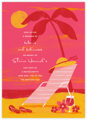 Pink Sunset - Paperless Post - Bachelorette party invitations