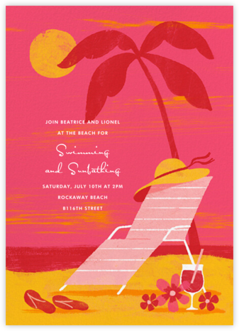 Pink Sunset - Paperless Post - Summer Party Invitations