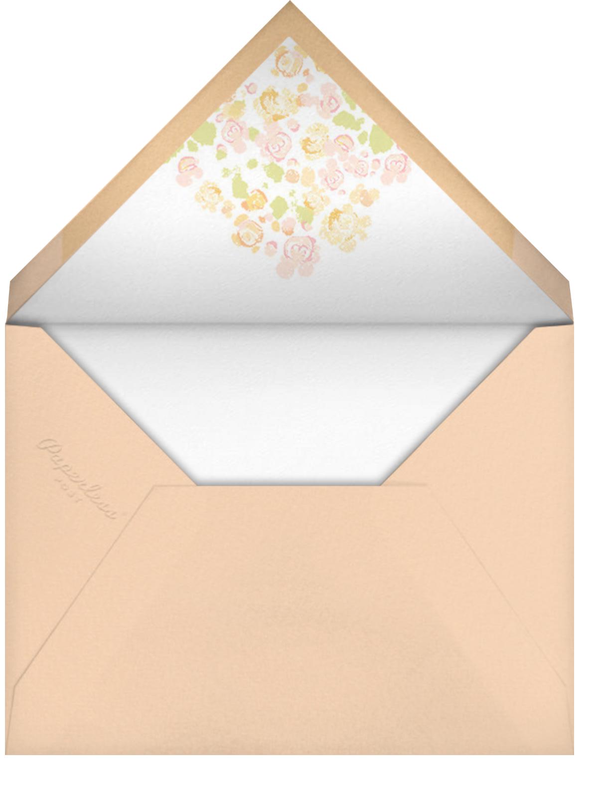 Something Gold - Paperless Post - Bridal shower - envelope back