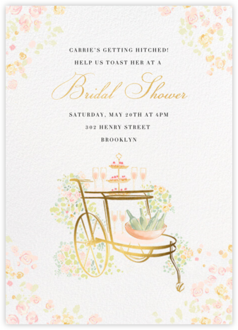Something Gold - Paperless Post - Bridal shower invitations