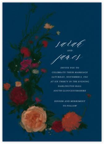 Bollongier (Invitation) - Dark Blue - Paperless Post - Wedding Invitations