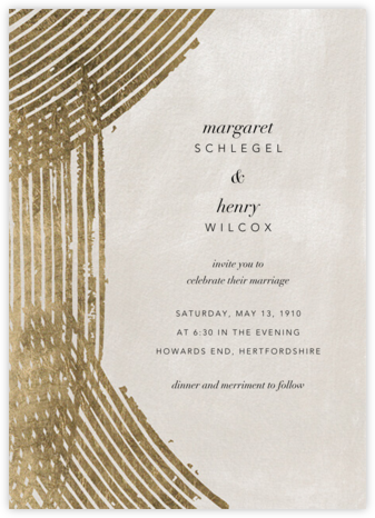 Parallax (Invitation) - Kelly Wearstler - Modern wedding invitations