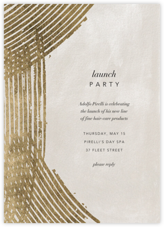 Parallax - Kelly Wearstler - Business event invitations