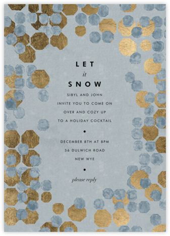Hex Border - Blue - Kelly Wearstler - Winter Party Invitations