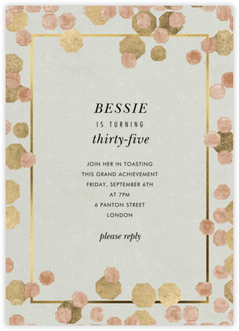 Hex Frame - Kelly Wearstler - Adult Birthday Invitations