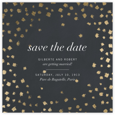 Divot - Slate - Kelly Wearstler - Save the dates