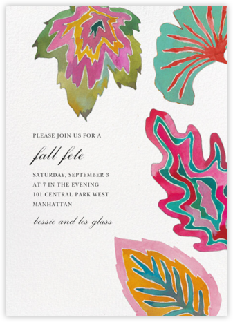 Lively Leaves - Happy Menocal - Online Party Invitations