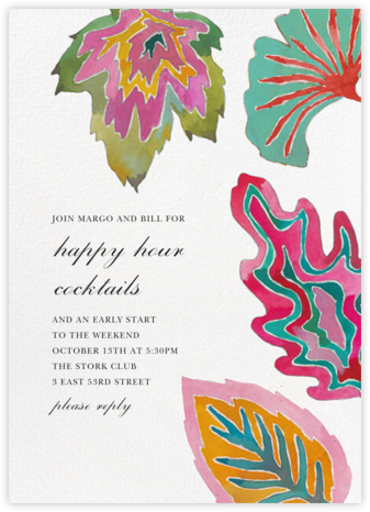 Lively Leaves - Happy Menocal - Happy Hour Invitations