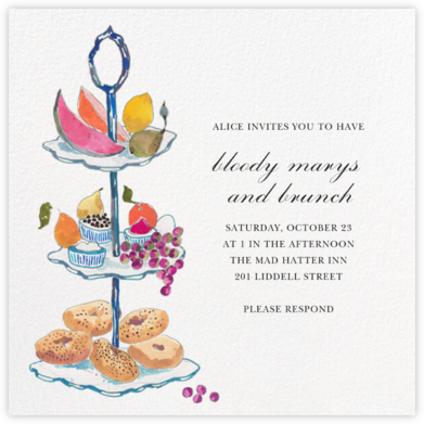 Three Tiers - Happy Menocal - Brunch invitations