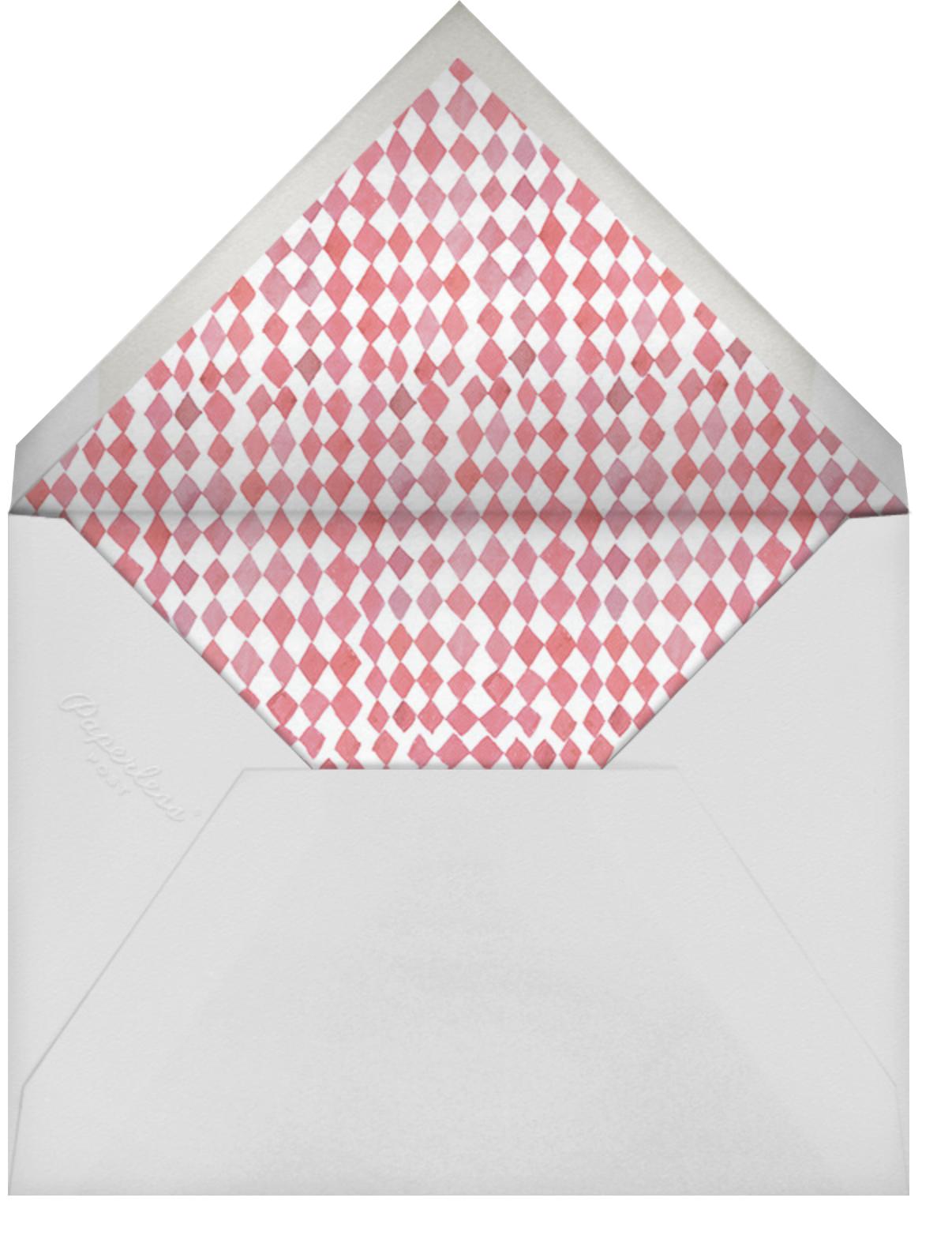 Three Tiers - Happy Menocal - Bridal shower - envelope back