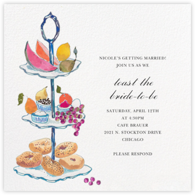 Three Tiers - Happy Menocal - Bridal shower invitations
