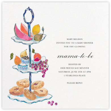 Three Tiers - Happy Menocal - Baby Shower Invitations