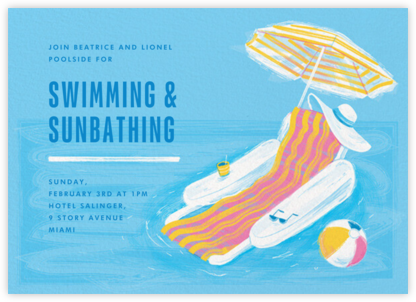 Splashy Chair - Paperless Post - Pool Party Invitations