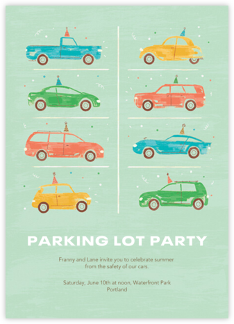 Party Cars - Paperless Post - Summer Party Invitations