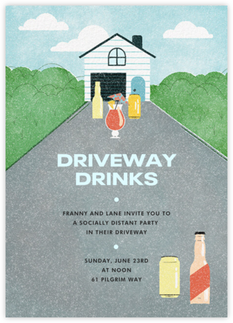 Driveway Drinks - Paperless Post - Summer Party Invitations