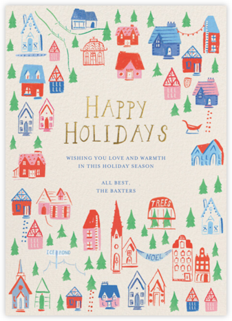 Holiday Hillside - Greeting - Mr. Boddington's Studio -