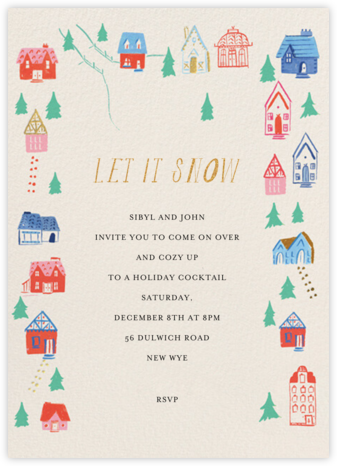 Holiday Hillside - Mr. Boddington's Studio - Winter Party Invitations