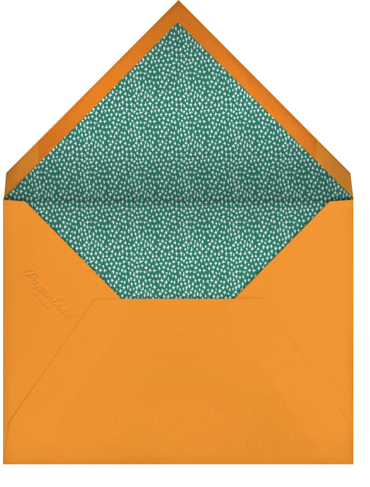 Citrus and Pine - Mr. Boddington's Studio - Christmas party - envelope back
