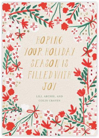 Merry Florals - Mr. Boddington's Studio - Holiday Cards