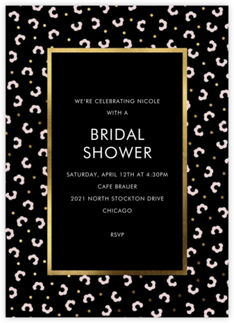 That Petals It - Black - kate spade new york - Bridal shower invitations