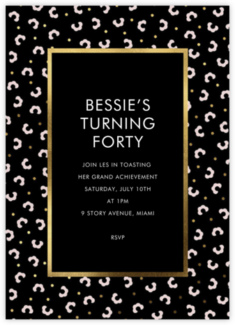 That Petals It - Black - kate spade new york - Milestone Birthday Invitations