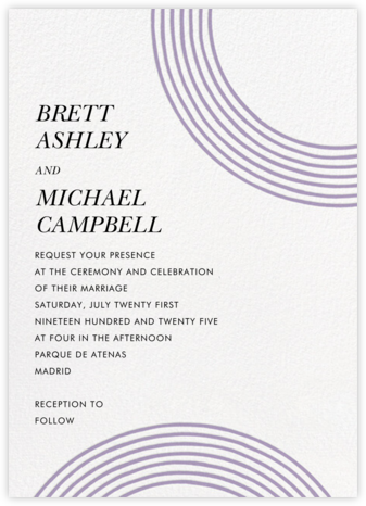 Sand Garden (Invitation) - Orchid - kate spade new york - Wedding Invitations