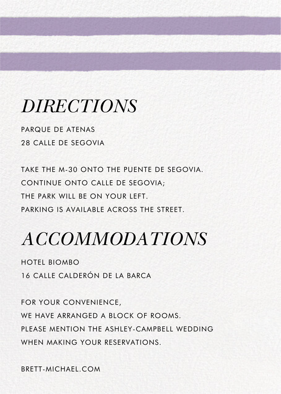 Sand Garden (Invitation) - Orchid - kate spade new york - All - insert front
