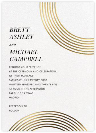Sand Garden (Invitation) - Gold - kate spade new york - Modern wedding invitations
