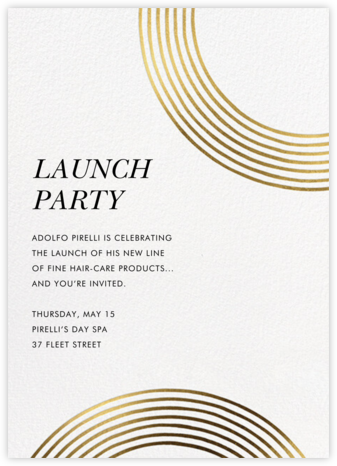Sand Garden - Gold - kate spade new york - Launch Party Invitations