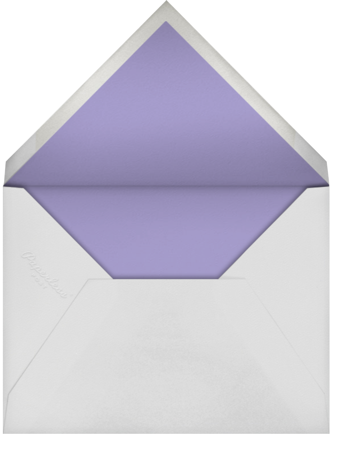 Gumdrop Border - Orchid - kate spade new york - Save the date - envelope back