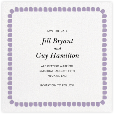 Gumdrop Border - Orchid - kate spade new york - Save the dates