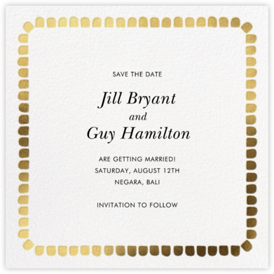Gumdrop Border - Gold - kate spade new york - Save the dates