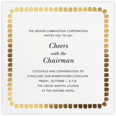 Gumdrop Border - Gold - kate spade new york - Business event invitations