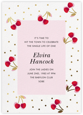 Merry Cherries - kate spade new york - Bachelorette party invitations
