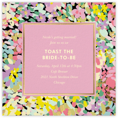 Painted Posies - Mauve - kate spade new york - Bridal shower invitations